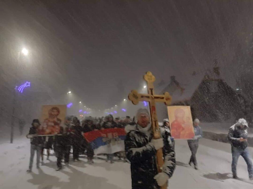 Литија у Жабљаку, јануар 2019. Христос се роди