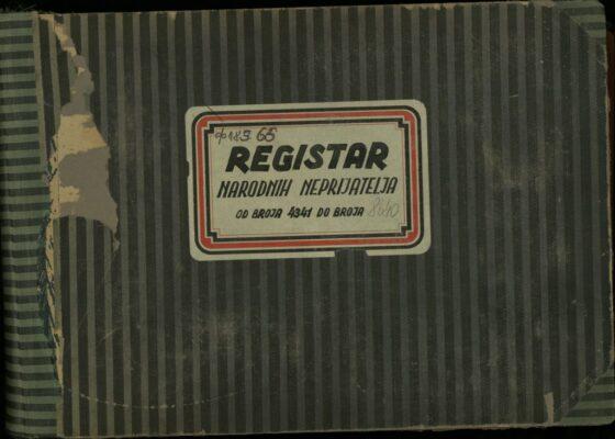 Озна, регистар народних непријатеља